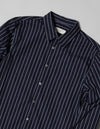 Kapatid - Gray and Navy Striped Dress Shirt - Made in the USA - Detail