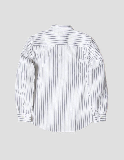 Kapatid - Gray and White Dress Striped Shirt - Made in the USA - Back