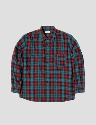 Kapatid - Men's Teal Plaid Flannel Shirt Made in the USA - Front
