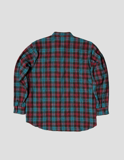 Kapatid - Men's Teal Plaid Flannel Shirt Made in the USA - Back