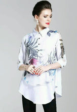 NBRANDFASHION.COM Floral Printing Loose Lapel Shirt - NBRANDFASHION.COM