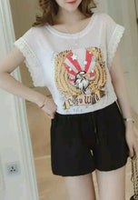 NBRAND Eagle Pattern Round Neck Lace Fringed Sleeveless T-Shirt - NBRANDFASHION.COM