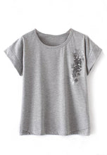 NBRAND Loose Flower Print Short Sleeve T-Shirt - NBRANDFASHION.COM