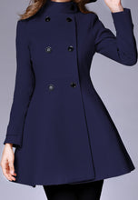NBRAND Double-Breasted Stand Collar High-Waisted Coat - NBRANDFASHION.COM