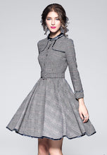 NBRAND Long Sleeve Houndstooth Dress - NBRANDFASHION.COM