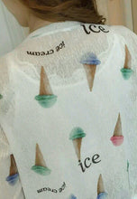 V-Collar Ice Cream Letter Print Cardigan