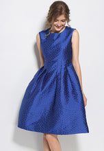 NBRAND Embroidery Temperament Sleeveless Puff Dress - NBRANDFASHION.COM