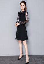 NBRAND Floral Print Long-Sleeve Dress - NBRANDFASHION.COM