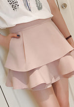 NBRAND Lotus Leaf Stitching Short Skirt - NBRANDFASHION.COM