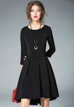 NBRAND 3/4 Length Sleeve Waisted Irregular Dress - NBRANDFASHION.COM