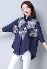 NBRAND Loose Embroidery Shirt - NBRANDFASHION.COM