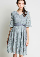 Strap V Collar Lace Dress
