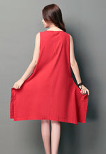 NBRAND Loose Sleeveless One-Piece A-Word Dress - NBRANDFASHION.COM