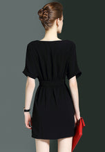 NBRAND Bat Sleeve Buckled Irregular Dress - NBRANDFASHION.COM