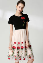 NBRAND Embroidery Knitting Stitching Net Yarn Princess dress - NBRANDFASHION.COM