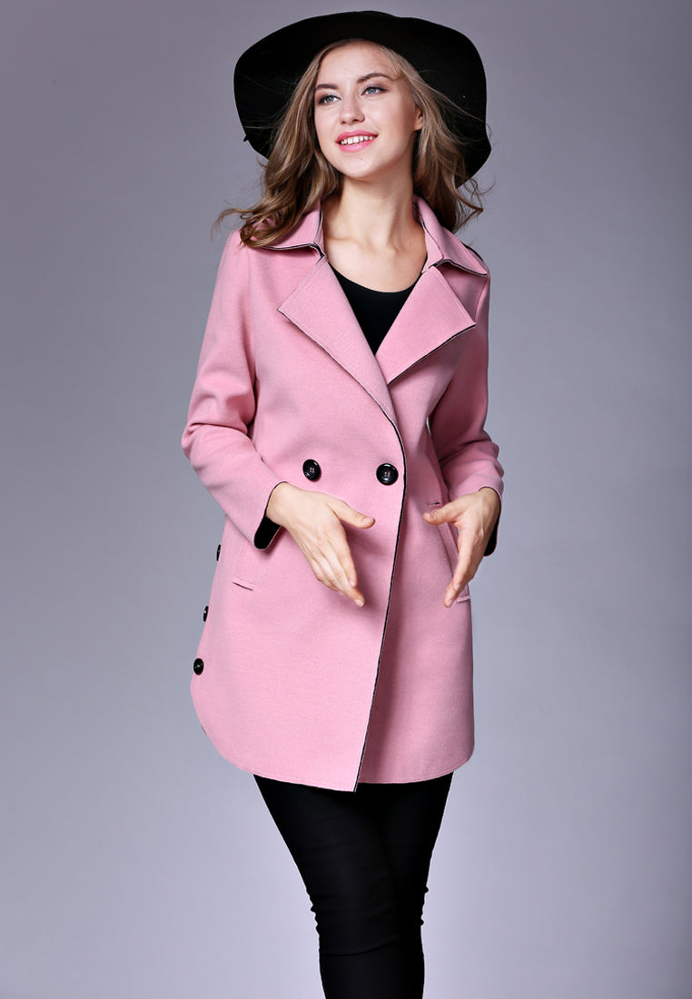 NBRAND Double-Breasted Suit-Collar Coat - NBRANDFASHION.COM