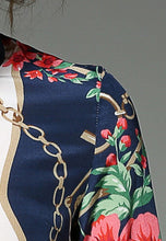 NBRAND Iron-Chain Print Lapel Long Sleeve Shirt Top - NBRANDFASHION.COM