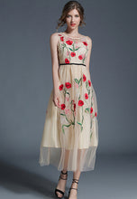 NBRAND High-Waisted Embroidery Net Yarn Big-Swing Dress - NBRANDFASHION.COM