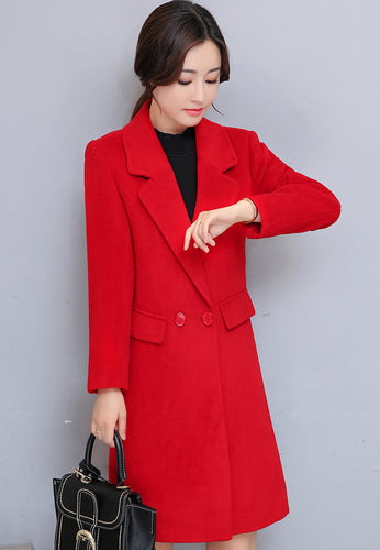 Suit-Collar Button Coat