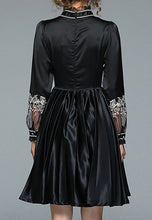 NBRAND Embroidery Pleated Dress - NBRANDFASHION.COM