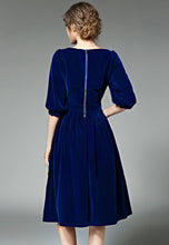 NBRAND Elbow Length Sleeve Pleated A-Line Dress - NBRANDFASHION.COM