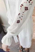 NBRAND Embroidery Long Sleeve Long Cardigan - NBRANDFASHION.COM