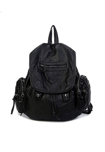 Washed Shoulder Backpack