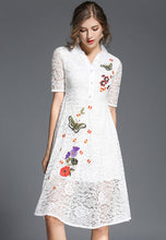 NBRAND Lace Butterfly Embroidery Dress - NBRANDFASHION.COM