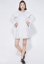 NBRAND Doll-Style Collar Elbow Length Sleeve A-Line Dress - NBRANDFASHION.COM