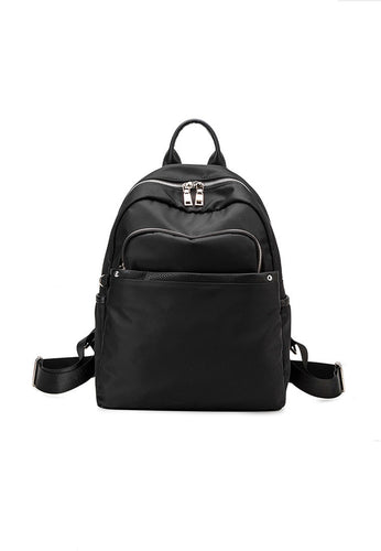 Zipper Double Strap Backpack