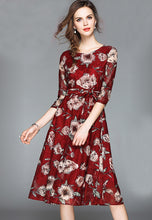 NBRAND Lace Print Princess Dress - NBRANDFASHION.COM