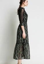 NBRAND 3/4 Length Sleeve Stitching Floral Print Dress - NBRANDFASHION.COM