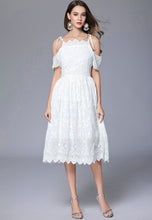 NBRAND Crochet Hollow Sling Dress - NBRANDFASHION.COM