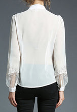 NBRAND Embroidery Long Trumpet Sleeve Shirt - NBRANDFASHION.COM