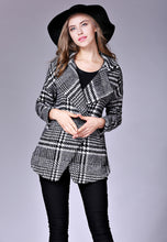 NBRAND Checkered Large Lapel Coat - NBRANDFASHION.COM