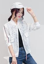 NBRAND Jacquard Lace Short Baseball Jacket - NBRANDFASHION.COM