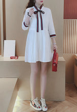 Stand Collar Pleated Shirt Dress