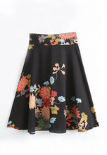 NBRAND Flower Printing Medium-Long Length Skirt - NBRANDFASHION.COM