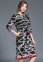 NBRAND 3/4 Length Sleeve Printed Dress - NBRANDFASHION.COM
