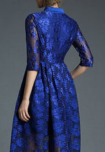 NBRAND Embroidery Sequin Lace A-Line Dress - NBRANDFASHION.COM
