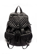 NBRAND Diamond Pattern Double Strap Backpack - NBRANDFASHION.COM