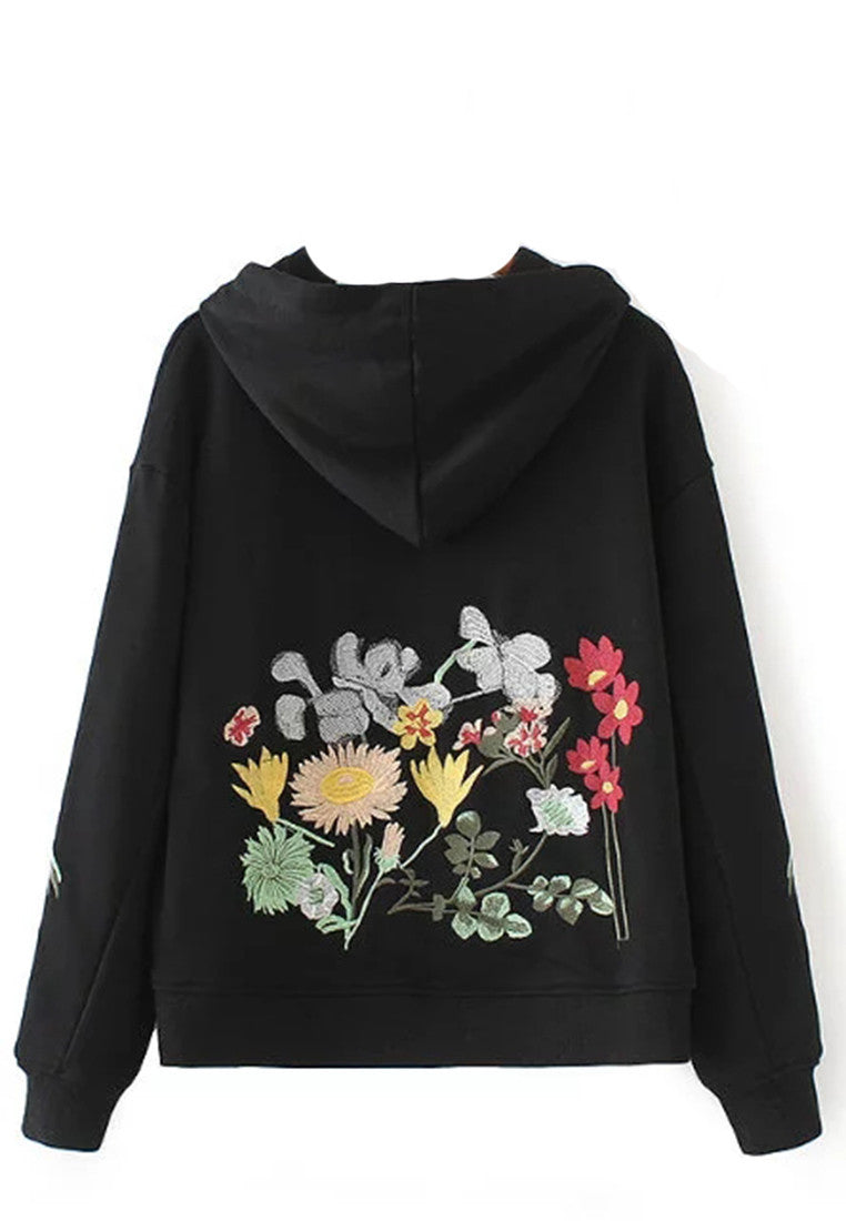NBRAND Embroidery Hooded Long Sleeve Sweater - NBRANDFASHION.COM
