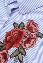 Striped Embroidery Shirt