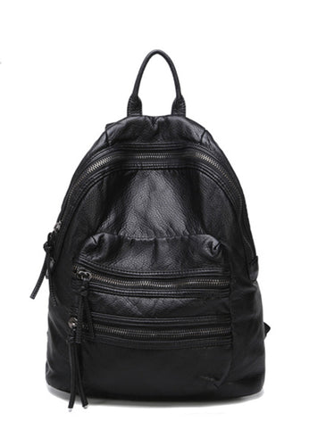 Washed Double Strap Travel Backpack