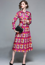 NBRAND Bowknot A-Line Print Dress - NBRANDFASHION.COM