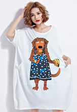 NBRAND Cartoon Big Size Short Sleeve T-Shirt Dress - NBRANDFASHION.COM