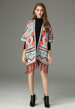 NBRAND National Style Shawl Jacquard Tassel Cloak - NBRANDFASHION.COM