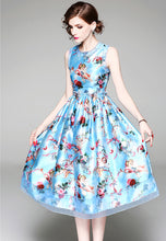 NBRAND Floral Print Sleeveless Dress - NBRANDFASHION.COM