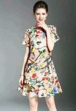 NBRAND Floral Printed Short Sleeve Dress - NBRANDFASHION.COM