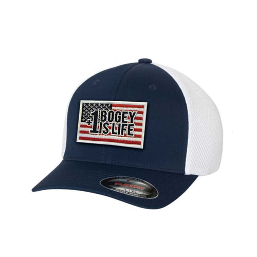 NEW! AmaTOUR Flex Performance Series Freedom Hat - Bogey Is Life - Golf Polos